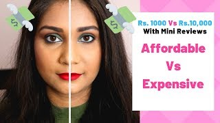 Expensive vs Affordable makeup |  Nidhi Katiyar
