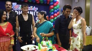Dhwanit Borthday Party Cake With Bollywood And Bhojpuri Hottest Actress And Actor