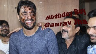 Gaurav Jha - Cake Makeup - Birthday Celebration -With  Bhojpuri Celebs