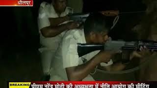 धौलपुर जिले के चम्बल के बीहड़ों में पुलिस और डकैत में पांच घंटे तक हुए मुठभेड़