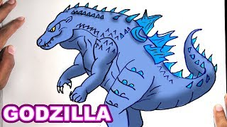 Drawing GODZILLA - How to Draw GODZILLA | Step-by-Step Tutorial - Fortnite
