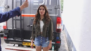 Kriti Kharbanda Spotted Shooting For A Brand At Famous Studio