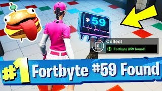 Fortbyte #59 Accessible with the Durrr emoji Inside pizza pit restaurant Location Fortnite