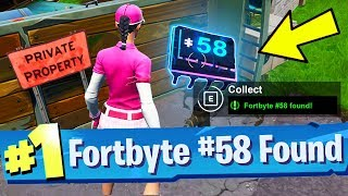 Fortbyte #58 Accessible by using Sad Trombone Emote north of snobby shores Location Fortnite