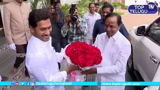 CM KCR & KTR Visits Cm Jagan Mohan Reddy  House   Telangana And Andhra Pradesh   Top Telugu TV