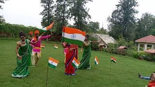 Live Shooting#  देखिये भोजपुरी  देश भक्ति सांग कैसे होता है - Live Shooting In Desi Bhakti Song 2018