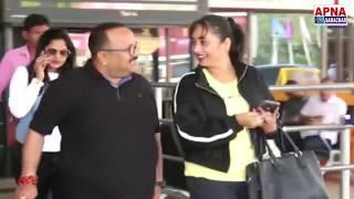 Bhojpuri Celebs Rani Chaterjee, Anjana Singh, Manoj Tiger Spotted At Patna Airport