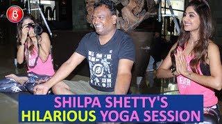 Shilpa Shettys HILARIOUS Yoga Session With The Shutterbugs