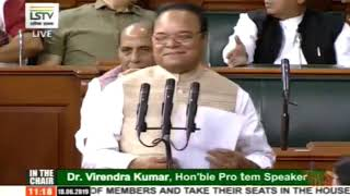 Santokh Singh Chaudhary takes oath as a member of 17th Lok Sabha