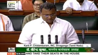 Karti P Chidambaram takes oath as a member of 17th Lok Sabha