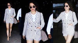 Stylish Kangana Ranaut Spotted At Mumbai Airport