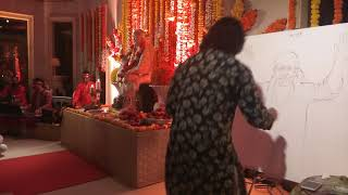 Dubai Palm Jumeirah | Navneet Agnihotri | Live Sai Painting| Harish Mulani | Dhiraj Saluja | 3rd Jan