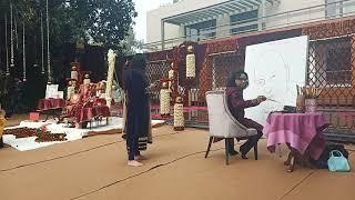 Guruji Bade Mandir Live Painting | Navneet Agnihotri | Siddharth Mohan Bhajan 24th Jan Neeraj Saluja
