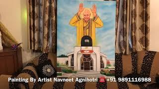 Bade Mandir | Guru Ji Swaroop painting By Artist Navneet Agnihotri going to Dubai
