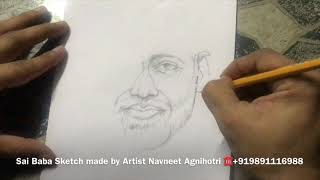 How to draw Sai Baba by Artist Navneet Agnihotri