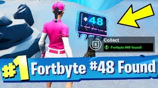 Fortbyte #48 Accessible by using the Vox Pickaxe to smash the gnome beside a mountain top throne