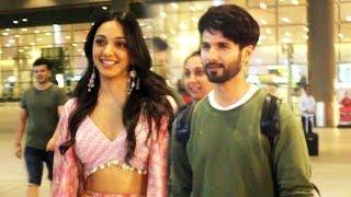 Kabir Singh Shahid Kapoor And Kiara Advani Spotted At Mumbai Airport