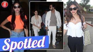 Ranbir Kapoor-Alia Bhatt Nora Fatehi & Mouni Roy Spotted At The Mumbai Airport
