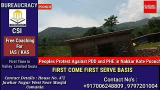 Peoples Protest Against PDD and PHE in Nakkar Kote Poonch.