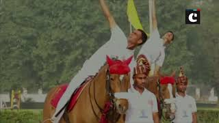 Army jawans perform equestrian yoga in UP's Saharanpur