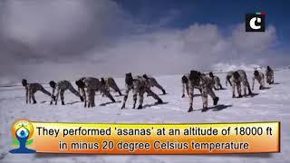 International Yoga Day: ITBP performs yoga in minus 20 degree Celsius in Ladakh