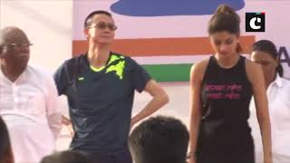 International Yoga Day: Fitness diva Shilpa Shetty performs yoga