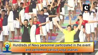 Western Naval Command performs yoga on 5th International Yoga Day onboard INS Viraat