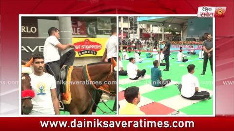 Exclusive : देखिए कैसे Duty दे रहे ITBP के जवानों ने Horses पर बैठ किया Yoga