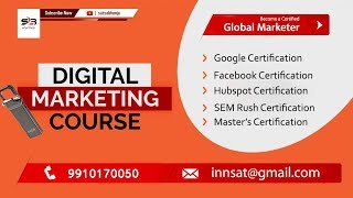 Golden Opportunity! | Become a Global Marketer | Digital Marketing Course | Satya Bhanja