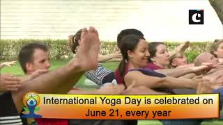 International Yoga Day: USA Embassy performs 'asanas'
