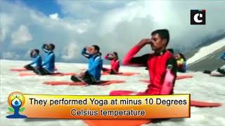 ITBP personnel perform yoga in HP & Sikkim