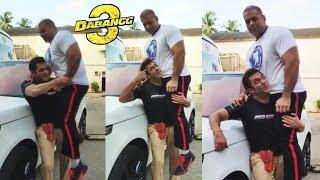 Salman Khan Lifts Bodybuilder Nephew On His Shoulder On Dabangg 3 Set