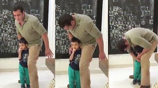 Nephew Ahil LIFTS Mamu Salman Khan On His Shoulders, This Will Melt Your Heart