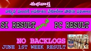 GOOD NEWS FOR POLICE ASPIRANTS//PC RESULTS  OFTER SI RESULTS//NO BACKLOGS