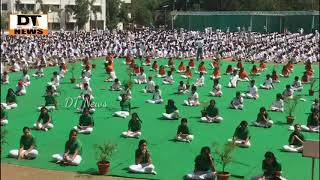 Pallavi International School And Delhi Public School Students | Celebrated Worlds Yoga Day - 21 June