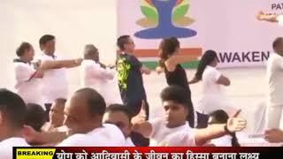 अंतरराष्ट्रीय योग दिवस पर अभिनेत्री शिल्पा शेट्टी ने गेटवे ऑफ इंडिया पर किया योग