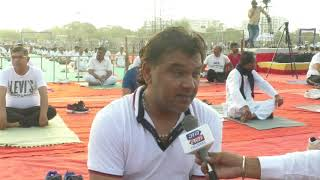 Rajkot   Kirtidan Gadhvi   ABTAK MEDIA   World Yoga Day