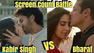 Bharat Vs Kabir Singh Screen Count Update l Kabir Singh Screens Increasing After Good Response