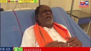 BJP TS PRESIDENT DR K.LAXMAN  HUNGER STRIKE  FOR INTERMEDIATE  RESULTS ISSUE