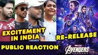 Avengers Endgame Re-Release In INDIA | PUBLIC Reaction | Excitement | Post Credit Scenes
