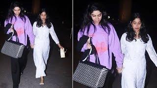 Janhvi Kapoor With Sister Khushi Kapoor Spotted At Mumbai Airport