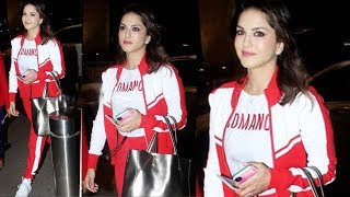 Gorgeous Sunny Leone Spotted At Mumbai Airport