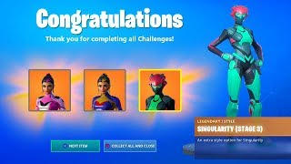 SINGULARITY SKIN - MYSTERY UTOPIA SKIN CHALLENGES - FREE SECRET SKIN (FORTNITE BATTLE ROYALE)
