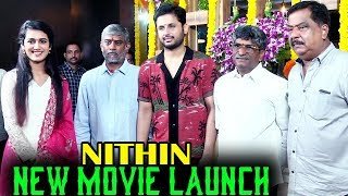 Hero Nithin New Movie Launch || Priya Prakash Varrier | 2019 Latest Movies