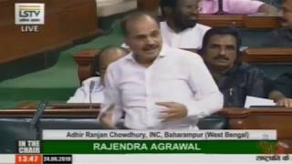 Adhir Ranjan Chowdhury Speech on the Motion of Thanks on the President's address in Lok Sabha