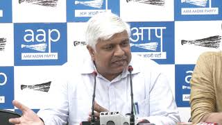 AAP Senior Leader & Delhi Cabinet Minister Rajendra Pal Gautam Briefed Media