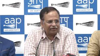 AAP Senior Leader & Delhi Cabinet Minister SatyendarJain Briefs on Sealing Issue