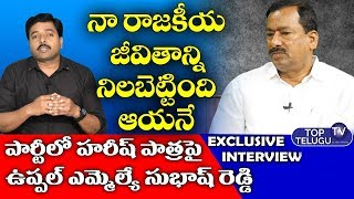 Uppal TRS MLA Bethi Subhash Reddy Exclusive Interview | Top Telugu TV