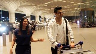 Divyanka Tripathi With Husband Vivek Dahiya Spotted At Mumbai Airport