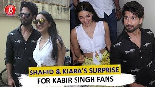 Shahid Kapoor & Kiara Advani SURPRISE Kabir Singh Viewers By Storming Theatres
